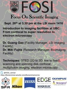 FOSI seminar Sept 26th (Thursday) 3:30pm LSI Rm1.416